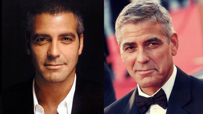 Джордж Клуни в 2000-м и 2015-м году