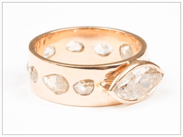 Эксклюзивные ювелирные украшения: золотое кольцо с бриллиантами 2016