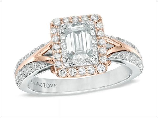 Эксклюзивное ювелирное украшение - кольцо Vera Wang 2016 из белого и желтого золота