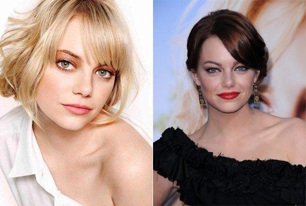 Эмма Стоун. Прическа и макияж
