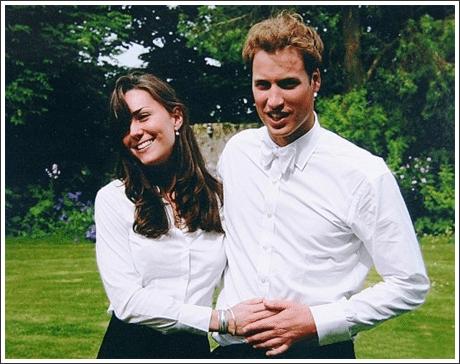 Кейт Миддлтон и принц Уильям в университете