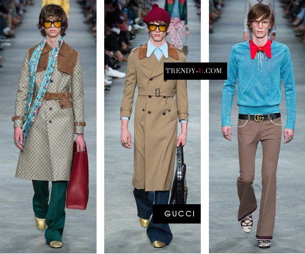 Модная мужская одежда в стиле ретро 70-х от Gucci SS 2016