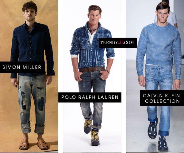 Модные джинсы мужские весна-лето 2016