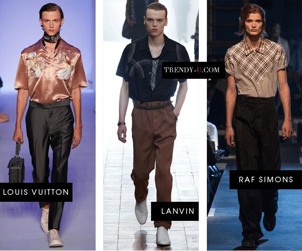 Модные мужские рубашки в стиле 50-х от Louis Vuitton, Lanvin и Raf Simons весна-лето 2016