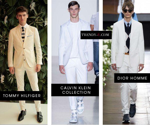 Модные мужские костюмы белого цвета для весны и лета 2016