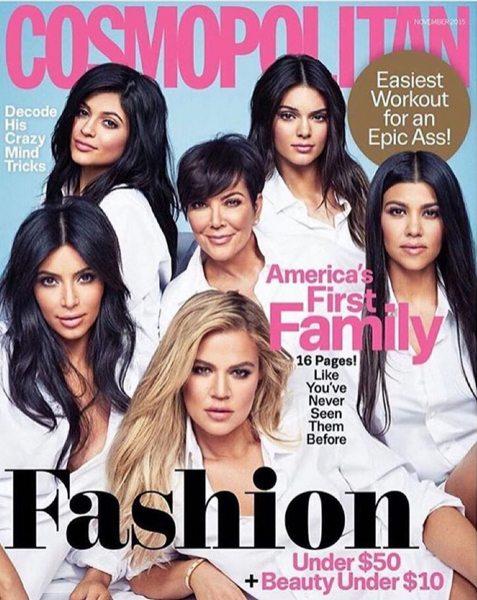 Семейка Кардашян на обложке Cosmopolitan