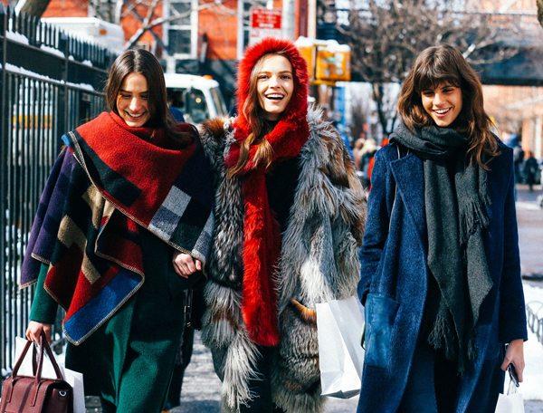 Уличный стиль, зима 2016
