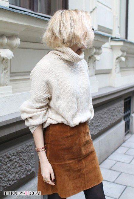 Вязаный свитер оверсайз