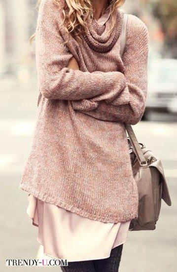 Тонкий мохеровый свитер