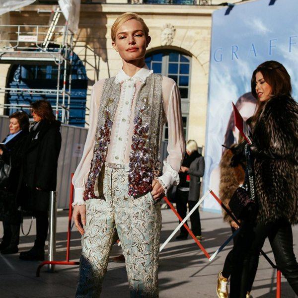 Кейт Босуорт в Париже. Зима, 2016
