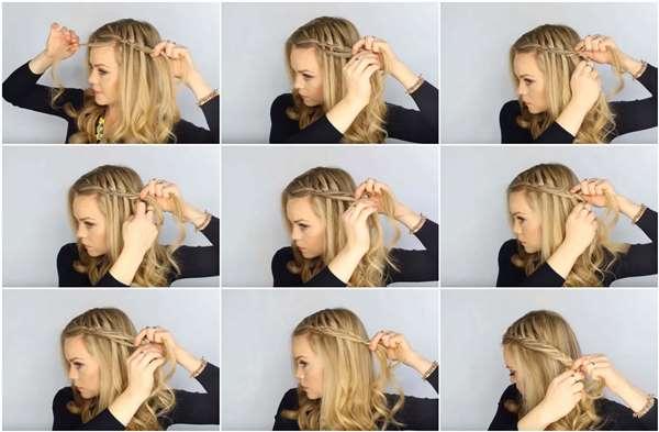 Подробная пошаговая инструкция по плетению косы-водопада