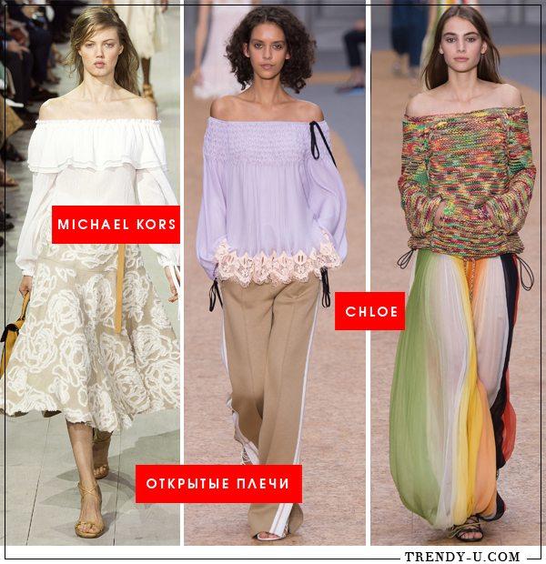 Блузка, топ, платье или свитер со спущенными плечами - это маст хэв весенне-летнего гардероба 2016