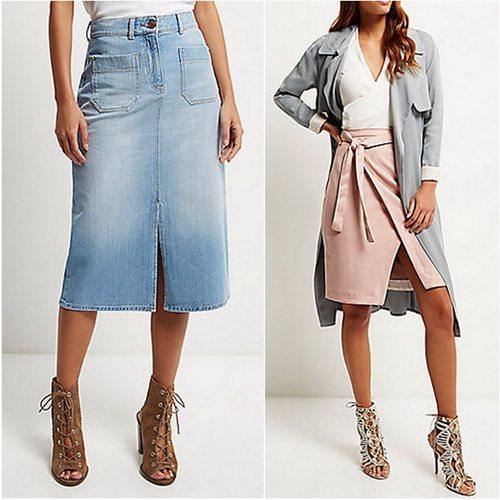 Модная юбка River Island станет частью элегантного комплекта