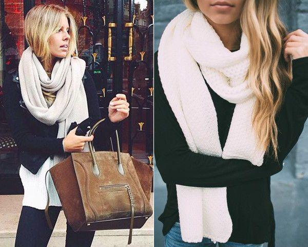 Вязаные шарфы на модницах