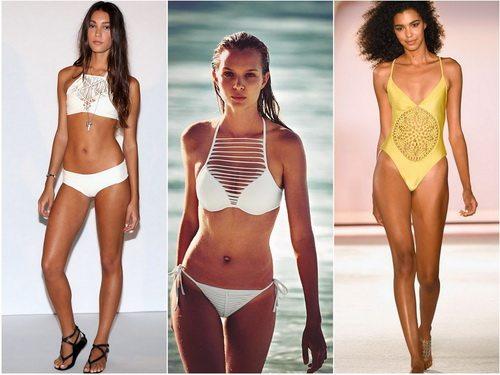 Модные купальники летом 2016: вязка крючком или имитация вязки