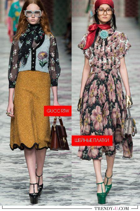 Модные шейные платки и шарфы весна-лето