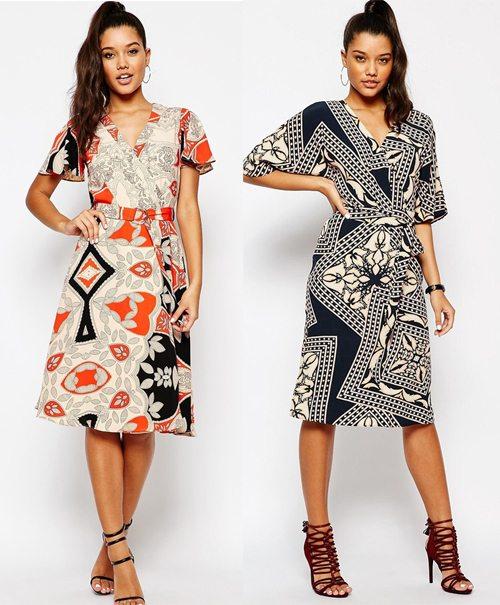 Модные платья Ривер Айленд в стиле ретро 70-х
