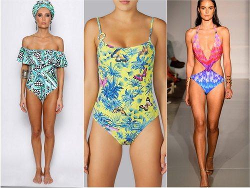 Летом 2016 в моде купальники с тропическим принтом
