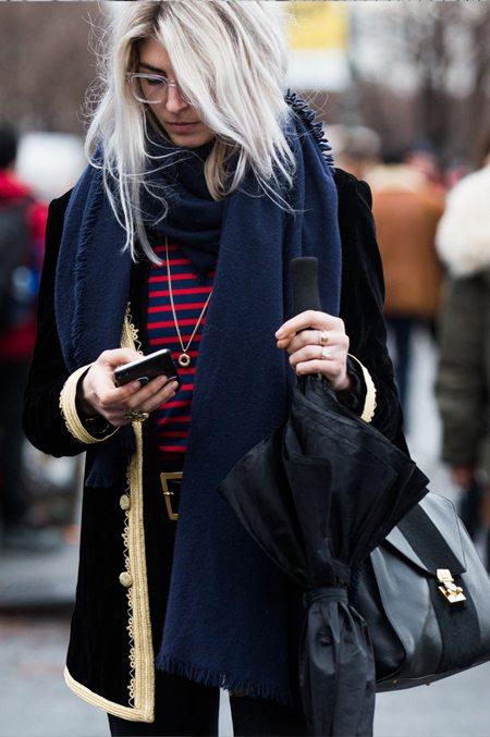 Уличная модница на улице Нью-Йорка. Февраль, 2016