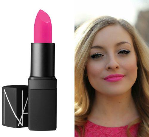 Яркий «конфетный» розовый оттенок Schiap от NARS Semi Matte Lipstick