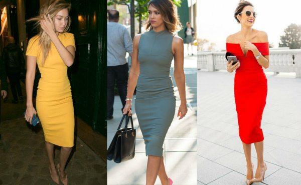 Облегающие платья в стиле нью лук