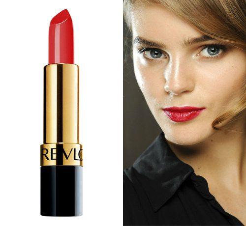 Алая глянцевая губная помада Revlon Super Lustrous Lipstick в оттенке Fire & Ice