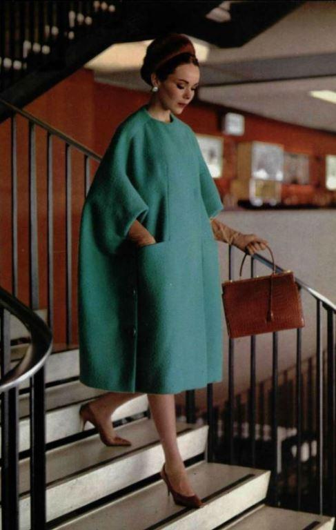 Верхняя одежда в стиле нью лук в форме трапеции