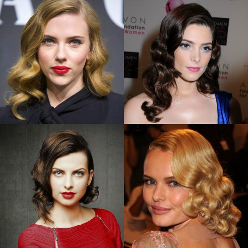 5-zavitki-v-stile-retro Красивые стрижки на средние волосы 2019-2020, фото, идеи стрижки на средние волосы