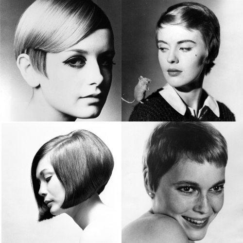 Прическа на короткие волосы в стиле 60-х от Видал Сассун