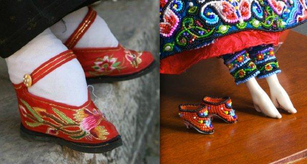 Миниатюрные ступни-лотосы — варварский обычай Китая