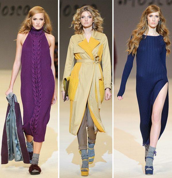 Вязаные платья и костюмы от бренда T. Mosca