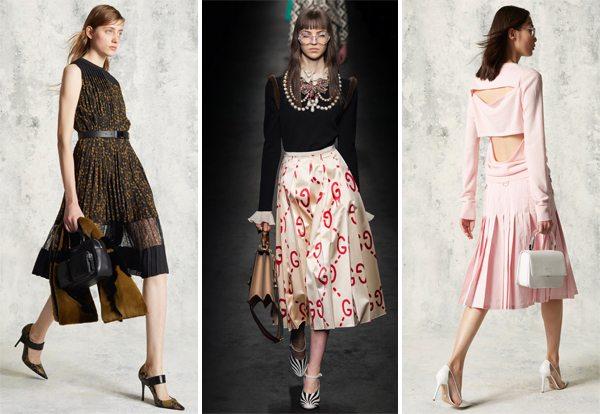 Модные юбки и платье плиссе