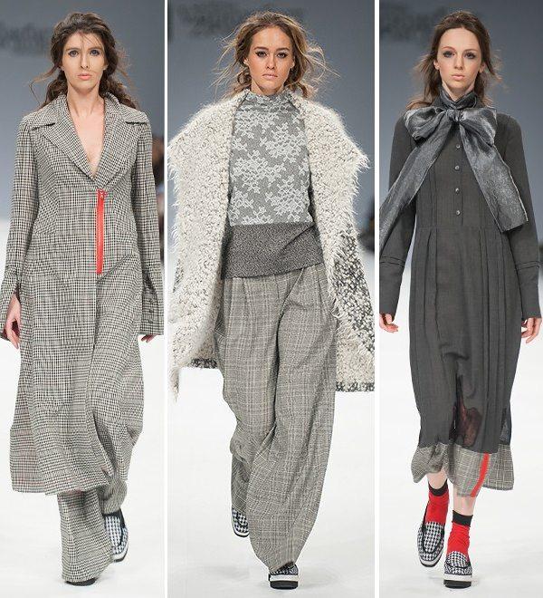 Модная одежда от украинских дизайнеров на Ukrainian Fashion Week в Киеве