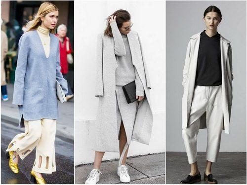Стиль минимализм в одежде взаимосвязан со стилями оверсайз и футуризм
