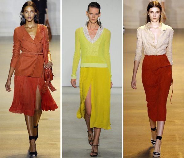 Модные юбки плиссе в коллекциях дизайнеров