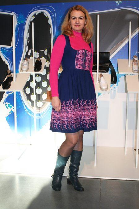 Модница и красавица на Украинской неделе моды