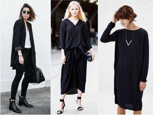 Черный цвет в одежде минималистичного дизайна