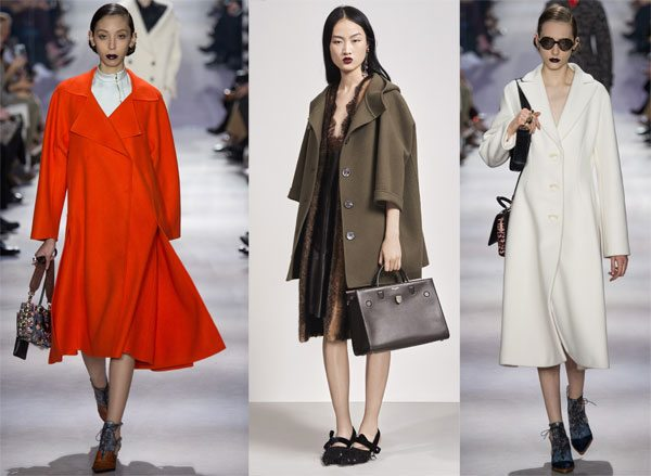 Модные пальто в стиле New Look by Christian Dior осень-зима 2016-2017