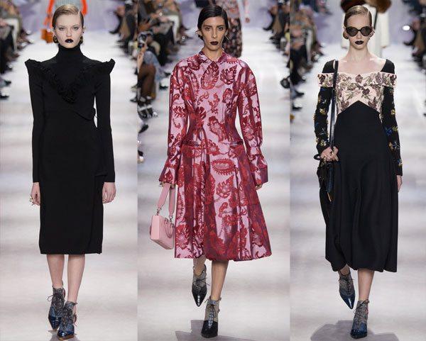 Стиль New Look в современной интерпретации. Платья из коллекции осень-зима 2016-2017