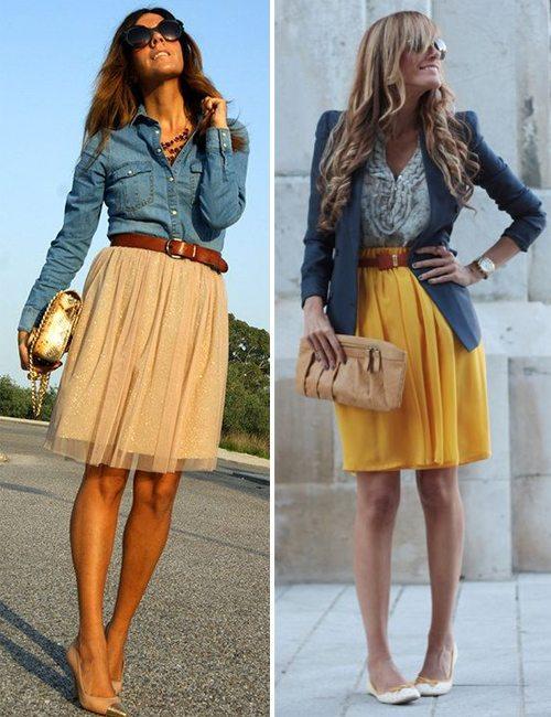 Плиссированная юбка по колено купить