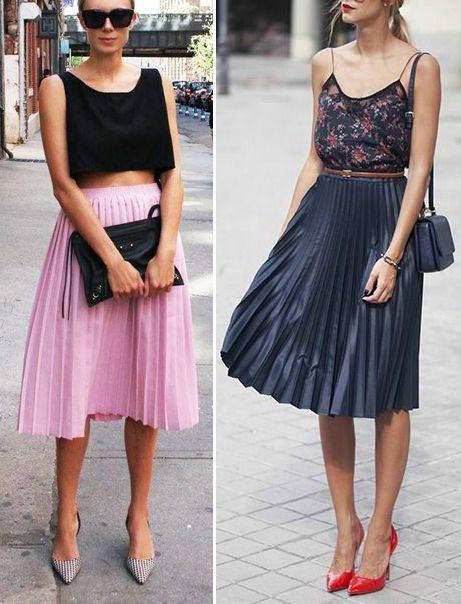 Вот так носите плиссированные юбки летом