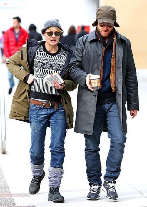 Вот такие смешные Робин Райт и Бен Фостер в повседневной жизни