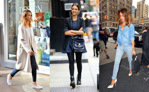 Джессика Альба: street look