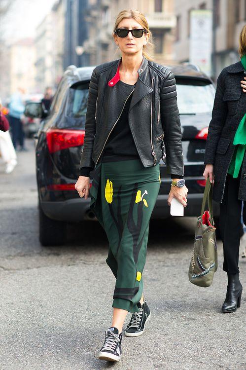 44-летняя Сара Ратсон любит защитные цвета и кожаные куртки