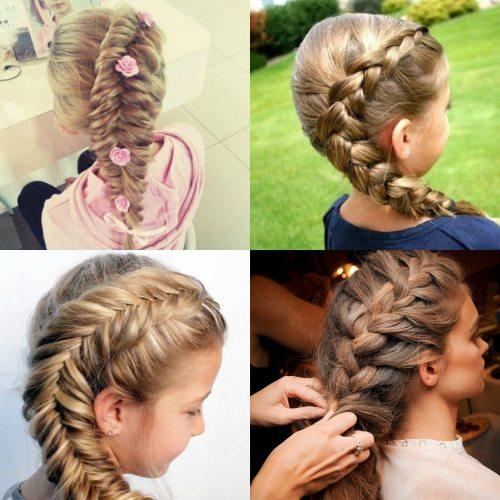 Объемные косы для девочки в четвертом классе