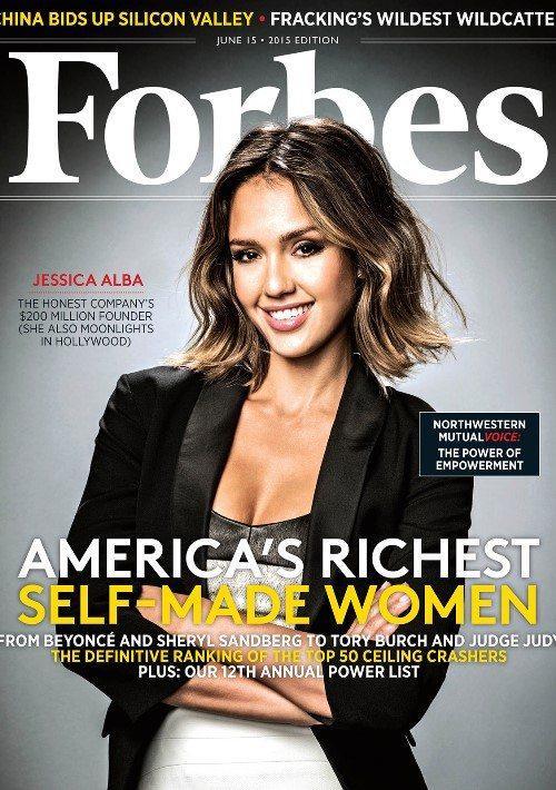 Джессика Альба на обложке журнала Forbes и в списке самых богатых женщин Америки