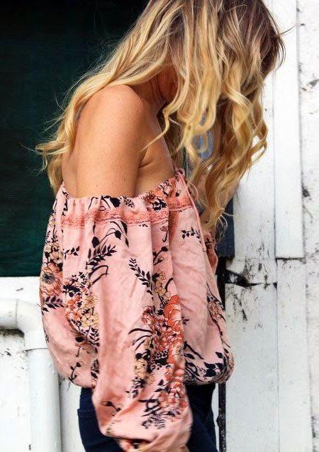 Женственная блузка с принтом
