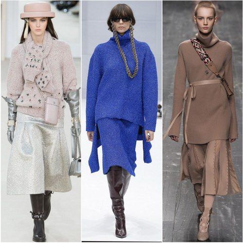 Свитеры в тренде осенью-зимой 2016-2017: Chanel, Balenciaga, Valentino