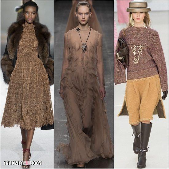 Ermanno Scervino, Valentino, Chanel демонстрируют модный осенью-зимой 2016 Бежево-серый Warm Taupe