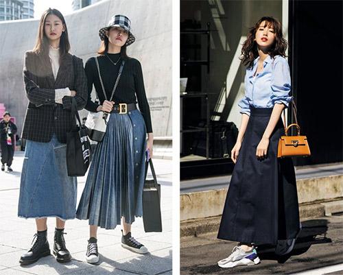 С чем носить джинсовую юбку: образы в стиле кэжуал